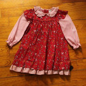 Vintage Girl's Christmas Party Dress